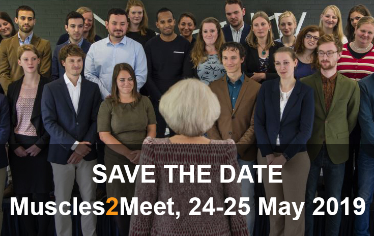 Save the date: Muscles2Meet, 24-25 May 2019