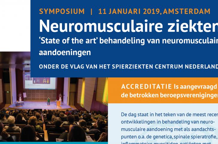 Symposium Neuromusculaire Ziekten 2019: Inschrijving geopend