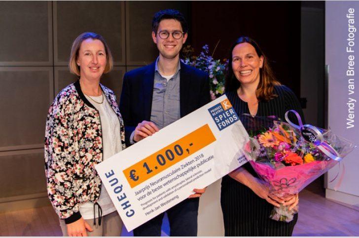 Henk-Jan Westeneng wint Jaarprijs Neuromusculaire ziekten 2018