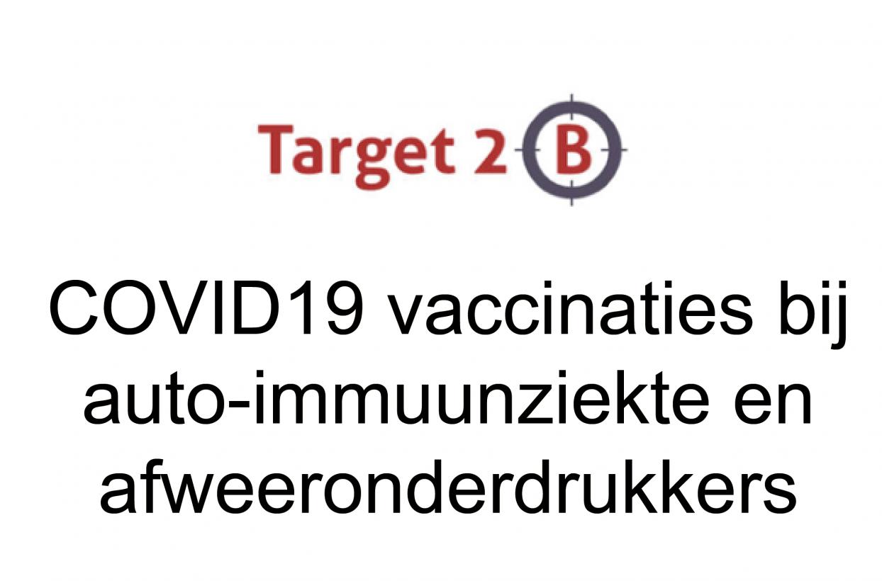 Voorlopige resultaten T2B-COVID studie bij mensen met auto-immuunziekte en afweeronderdrukkers